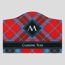 Clan MacTavish Tartan Door Sign