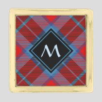 Clan MacTavish Tartan Gold Finish Lapel Pin