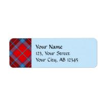Clan MacTavish Tartan Label