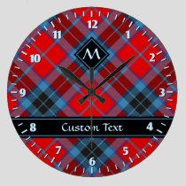 Clan MacTavish Tartan Large Clock
