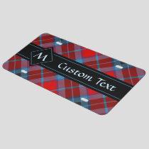 Clan MacTavish Tartan License Plate