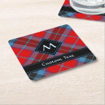 Clan MacTavish Tartan Square Paper Coaster