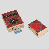 Clan MacTavish Tartan Wood Flash Drive