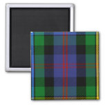 Clan Malcolm Tartan 2 Inch Square Magnet