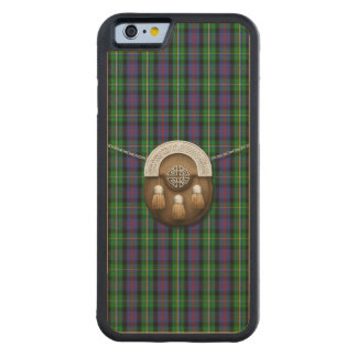 Clan Malcolm Tartan And Sporran Carved® Maple iPhone 6 Bumper Case
