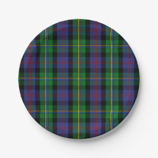 Clan Malcolm Tartan 7 Inch Paper Plate