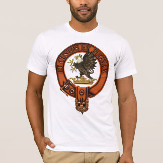 Clan Marjoribanks Family Crest and Targe T-Shirt