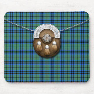 Clan Marshall Tartan And Sporran Mouse Pad