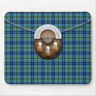 Clan Marshall Tartan And Sporran Mouse Pad