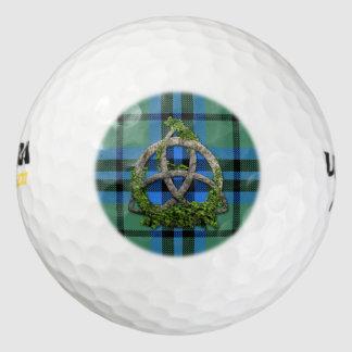 Clan Marshall Tartan Celtic Trinity Golf Balls