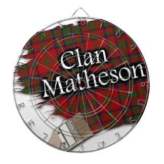 Clan Matheson Paint Brush Scottish Tartan Dartboard With Darts