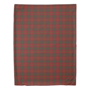 Clan Matheson Scottish Accents Red Green Tartan Duvet Cover at Zazzle