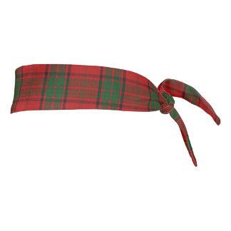 Clan Maxwell Scottish Accents Red Green Tartan Tie Headband