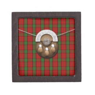 Clan Maxwell Tartan And Sporran Jewelry Box