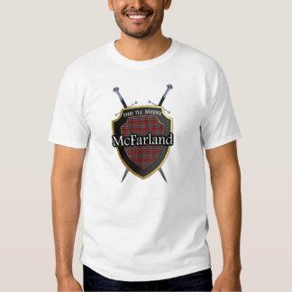 Clan McFarland Tartan Scottish Shield & Swords Shirts