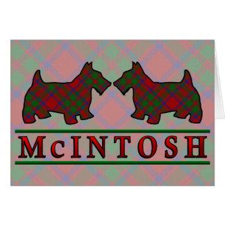 Clan McIntosh Tartan Scottie Dogs Card