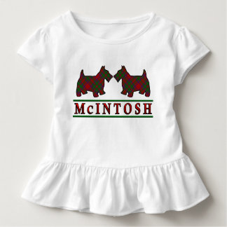 Clan McIntosh Tartan Scottie Dogs Toddler T-shirt