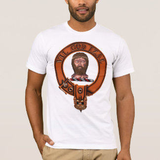 Clan Menzies Family Crest and Targe T-Shirt