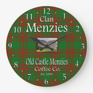 Clan Menzies Old Castle Menzies Coffee Co. Large Clock