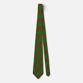 Clan Menzies Red and Green Hunting Tartan Tie
