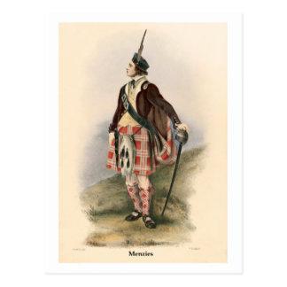 Clan Menzies Tarjeta Postal