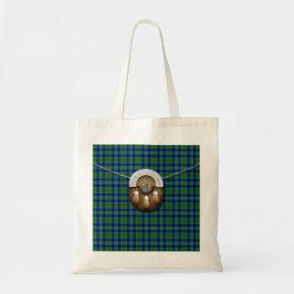 Clan Miller Tartan And Sporran Tote Bag