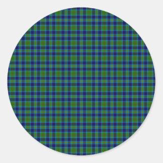 Clan Miller Tartan Classic Round Sticker