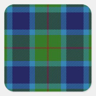 Clan Miller Tartan Square Sticker