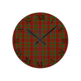 Clan Monro Tartan Round Clock