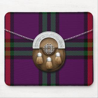 Clan Montgomery Tartan And Sporran Mouse Pad