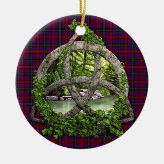 Clan Montgomery Tartan Celtic Trinity Ceramic Ornament