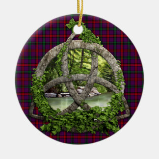 Clan Montgomery Tartan Celtic Trinity Ornaments