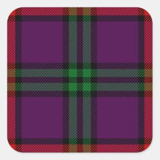 Clan Montgomery Tartan Square Stickers