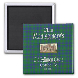 Clan Montgomery's Old Eglinton Castle Coffee Co. 2 Inch Square Magnet