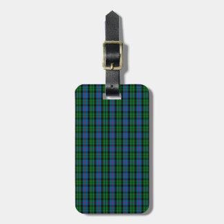 Clan Morrison Tartan Luggage Tag