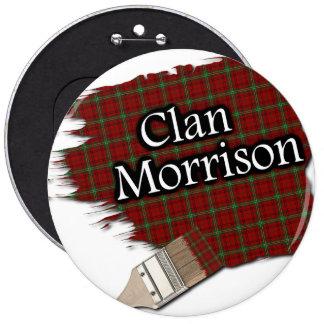 Clan Morrison Tartan Paint Brush Button
