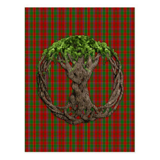 Clan Munro Tartan And Celtic Tree Of Life Postcard
