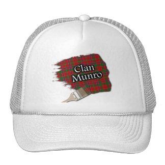 Clan Munro Tartan Paint Brush Cap
