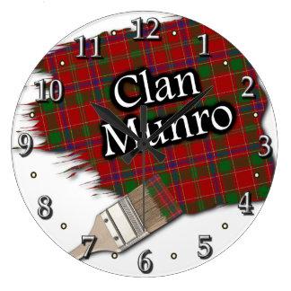 Clan Munro Tartan Paint Brush Clock
