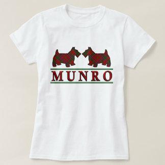 Clan Munro Tartan Scottie Dogs T Shirt