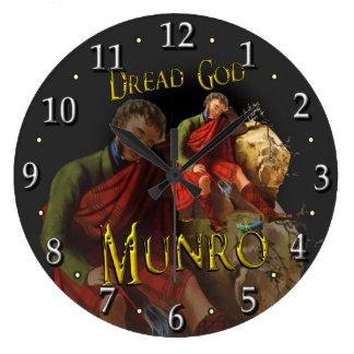 Clan Munro Tartan Scottish Dream Large Clock