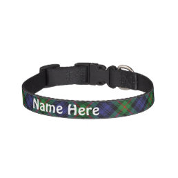 Clan Murray Tartan Customize Pet's Name Pet Collar