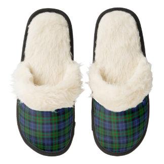Clan Murray Tartan Pair Of Fuzzy Slippers