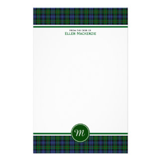 Clan Murray Tartan Monogram Stationery Paper