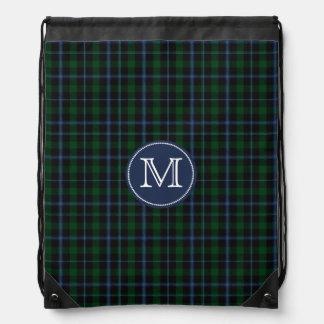 Clan Murray Tartan Plaid Monogram Backpack