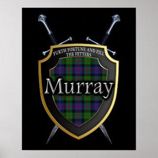 Clan Murray Tartan Shield & Swords Print
