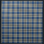"Clan Napier Blue, Black, and White Scottish Tartan Cloth Napkin<br><div class=""desc"">Cloth napkins with a bright royal blue,  black and white Scottish tartan. Choose from dinner or cocktail napkins. Matching tablecloth and table runner available.</div>"
