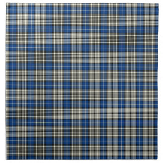 Clan Napier Blue, Black, and White Scottish Tartan Cloth Napkin