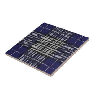 White Tartan Ceramic Tiles | Zazzle