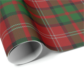 Clan Nisbet Nesbitt Nesbit Scottish Tartan Wrapping Paper